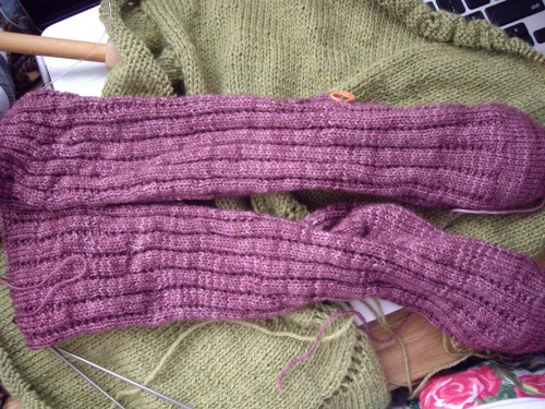 Mulberry kettle dyed socks